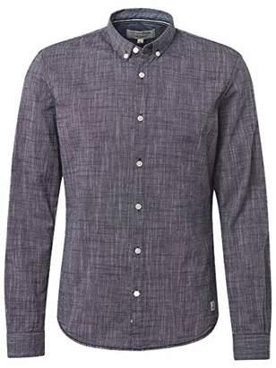 Tom Tailor NOS) Men's Tolles Basic Tee Mit Einem Tollen Strukturmuster Long Sleeve Top, (Black Iris Blue 10334), Large