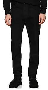 424 Men's Waxed Straight Jeans - Black