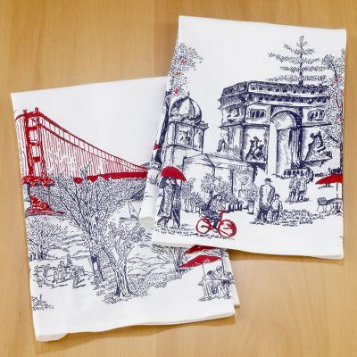 Golden Gate or Arc de Triomphe Kitchen Towels