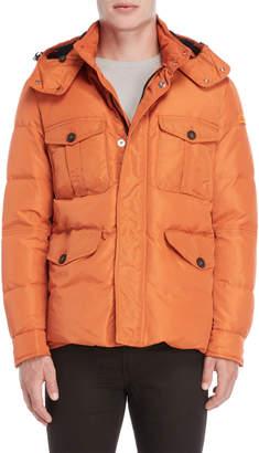 Peuterey Orange Flap Pocket Down Coat