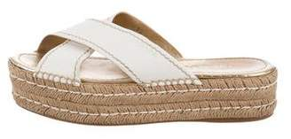 Prada Flatform Slide Sandals