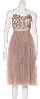 Needle & Thread Embellished Midi Dress w/ Tags