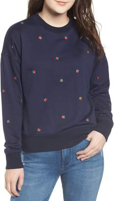 Currently in Love Tomato Embroidered Sweatshirt