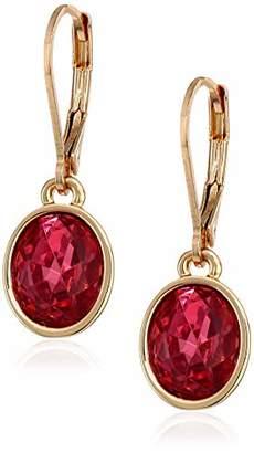 Anne Klein Women's Gold Tone Stone Drop Earrings