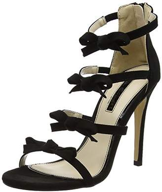 ec2e4a07e78 Miss Selfridge Women s Bow Strap T-Bar Sandals