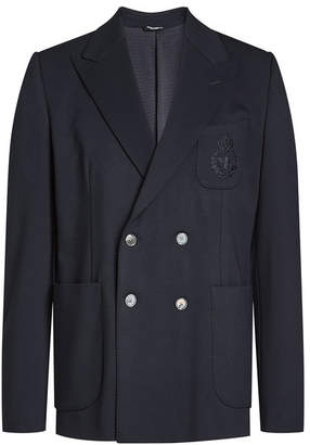 Dolce & Gabbana Jersey Double-Breasted Blazer