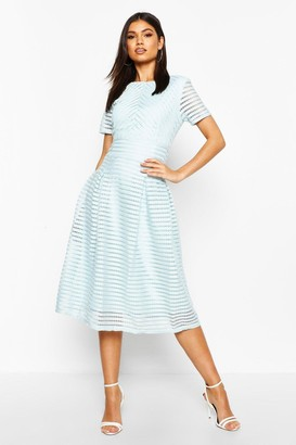 boohoo Boutique Full Skirted Prom Midi Dress