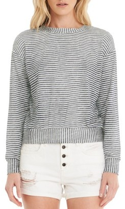 Women's Michael Stars Stripe Crop Sweatshirt $88 thestylecure.com