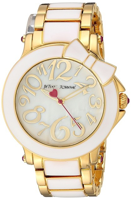 Betsey Johnson Betsey Johnson - BJ00459-10 - Bow White Enamel Watches