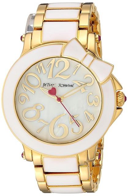 Betsey JohnsonBetsey Johnson - BJ00459-10 - Bow White Enamel Watches