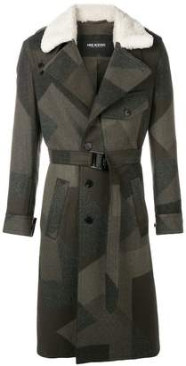 Neil Barrett belted single breasted coat