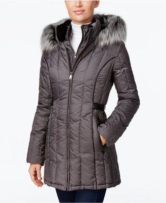 Nautica Faux-Fur-Trim Hooded Puffer Coat $245 thestylecure.com