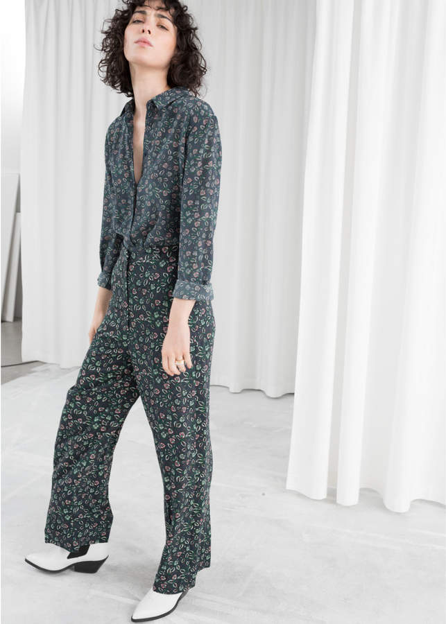 Straight Printed Trousers