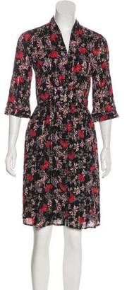 BA&SH Floral Print Knee-Length Dress