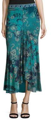 Fuzzi Batik Floral Maxi Skirt $490 thestylecure.com