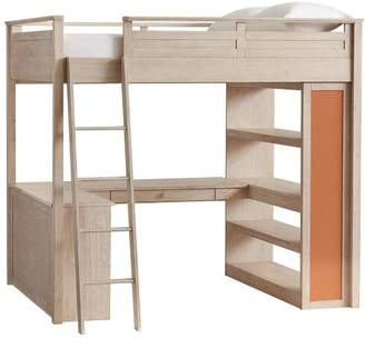 Pottery Barn Teen Sleep + Study Loft , Full, Weathered White