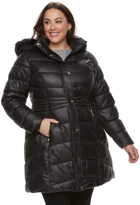 Gallery Plus Size Hooded Quilted Puffer Jacket