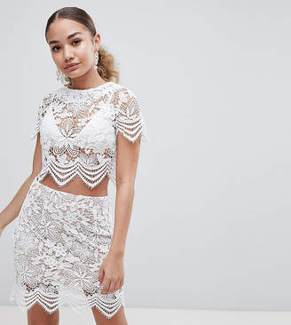 boohoo Scallop Lace Top