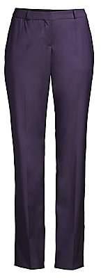 BOSS Women's Titana Regular-Fit Natural Stretch Virgin Wool Straight Leg Suiting Trousers