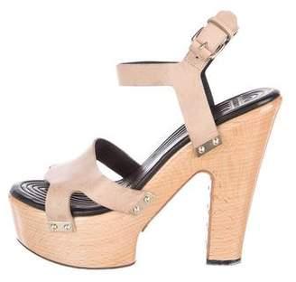 Givenchy Leather Platform Sandals