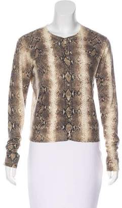 John Galliano Printed Cashmere Cardigan