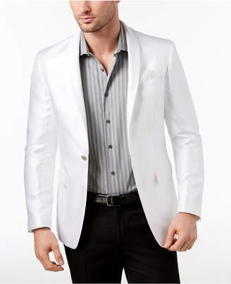 Tallia Orange Men's Slim-Fit White Horizontal Stripe Dinner Jacket