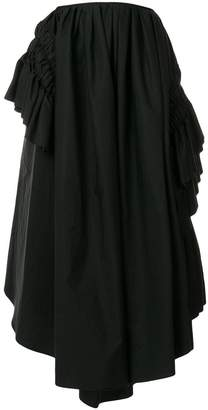 Jil Sander ruched puff midi skirt