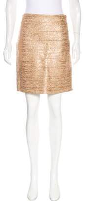 Haute Hippie Metallic Bodycon Skirt