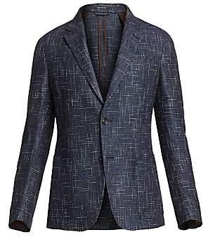 Ermenegildo Zegna Men's Textured Tweed Single-Breasted Jacket