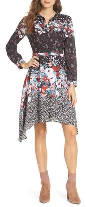 Julia Jordan Floral Print Shirtdress