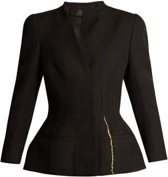 Haider Ackermann Calder corset-stitched hourglass wool jacket