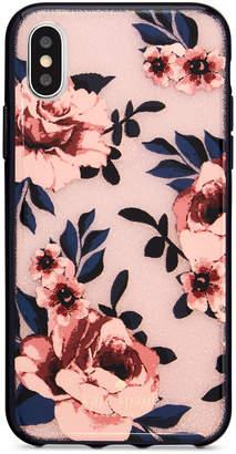Kate Spade Glitter Prairie Rose iPhone X Case