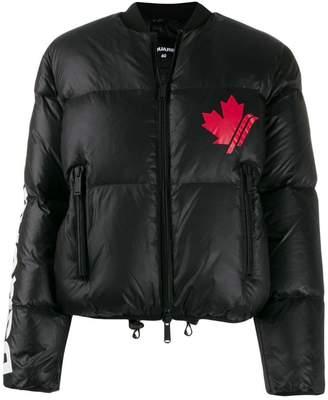 DSQUARED2 Maple leaf padded jacket