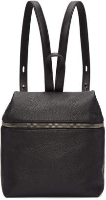 Kara Black Small Leather Backpack