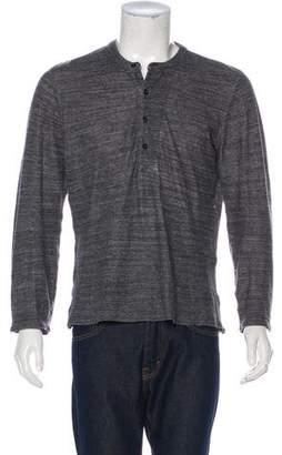 Billy Reid Crew Neck Henley Sweater