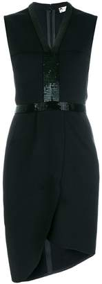 Lanvin short beaded front dress