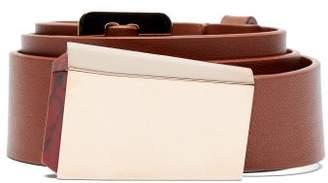 Gabriela Hearst Car Buckle Leather Belt - Womens - Brown