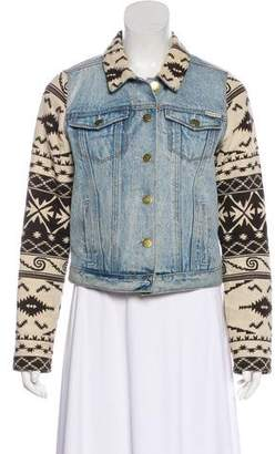 Maison Scotch Patterned Denim Jacket