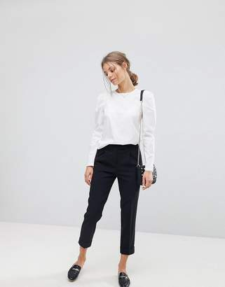 Esprit Tailored Pant Crop High Waist