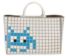 Anya Hindmarch Ebury Maxi Space Invader Leather Handbag