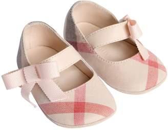 Burberry Check Cotton Ballerina Shoes