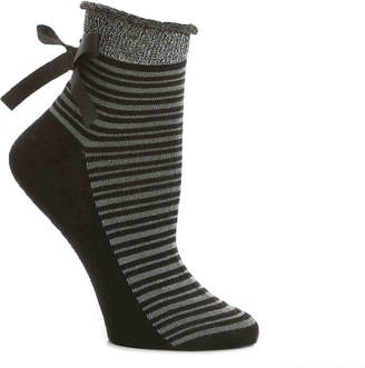 Mix No. 6 Striped Bow Ankle Socks - Women's