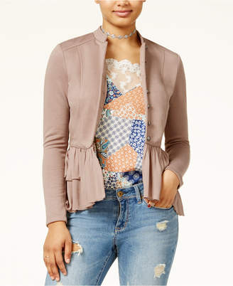 American Rag Juniors' Ruffled Peplum Jacket, Created for Macy's $59.50 thestylecure.com