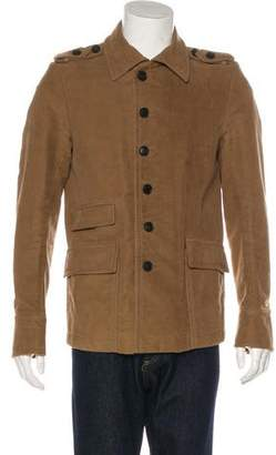Gucci Velour Military Jacket