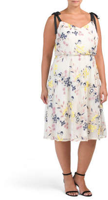 Plus Floral Fit N Flare Dress
