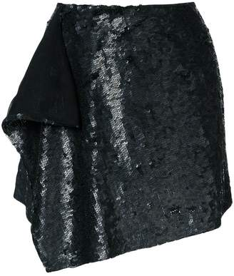 Alberta Ferretti layer sequined mini skirt