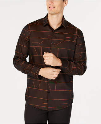 Alfani Men's Geometric Jacquard Shirt
