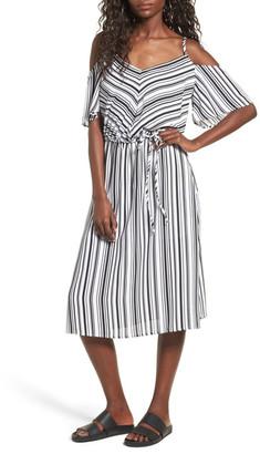 Mimi Chica Print Cold Shoulder Dress $55 thestylecure.com