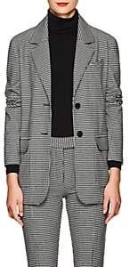 Derek Lam 10 Crosby Women's Checked Wool-Blend Flannel Two-Button Blazer - Wht.&blk.