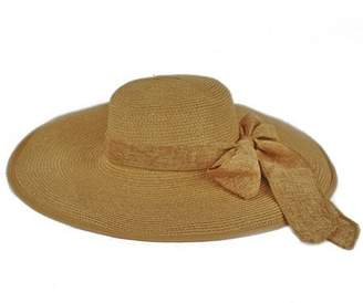 97979f633c214d Pop Fashionwear Women Cool Summer Floppy Wide Brim Straw Hat with Ribbon  964SH